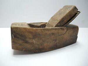 Wooden Block plane Alex Mathieson & Son Warranted Cast steel blade Vintage