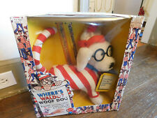 "Vtg RARE Where's Waldo Woof  Plush Pet Dog Figure Mattel 1991 11"" NEW in Box"
