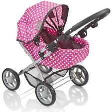 More details for molly dolly my first cutie dolls pram - girls adjustable toy stroller pushchair