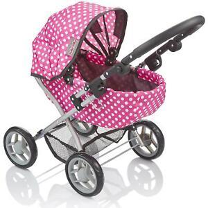 Molly Dolly My First Cutie Dolls Pram - Girls Adjustable Toy Stroller Pushchair