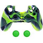 Housse de protection pour PS4 contrôleur Silicone Playstation 4 caisse vert Neu