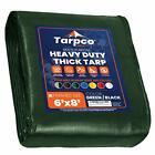 Tarpco Safety Extra Heavy Duty 14 Mil Tarp, Waterproof, UV Resistant (6′ X 8′)
