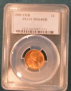 1909 VDB PCGS MS64RB Great Colorful Beauty