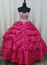 f62d090abb NEW Vizcaya by Mori Lee XV Sweet 16 Quinceanera Dress 88064 Cerise Size 8