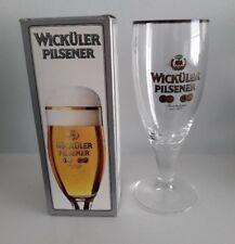 NEW IN BOX! VINTAGE KONIG PILSENER STEMMED GILDED BEER GLASS