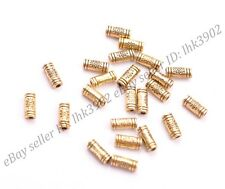 50/100Pcs Antique Silver/Gold/Bronze Charms TUBE Spacer Beads 9MM Z3032