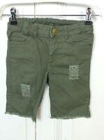 H&M Kurze Hose Jeanshose Bermuda Shorts Khaki Oliv Gr. 8-9 / 134 (HG220)