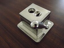 Stainless Steel Cast Body 2 in 1 Table Top Desktop Guillotine & V Cigar Cutter