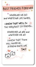 Best Friends Forever Inspired Words Magnetic Bookmark Sentimental Gift Range