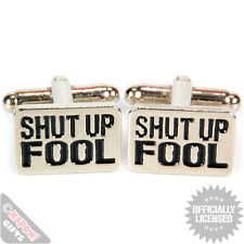 Mr T Cufflinks Shut Up Fool Classic 80's A Team TV Show Mens Wedding Gift