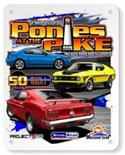 2019 Ponies at the Pike Metal Sign COOLEST Mustang Show Logo Ever! Free US Ship!