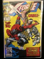 X-Force 15 Comic Book  Key Issue October 1992 Marvel Deadpool Cable Near Mint