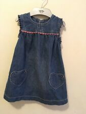 M&S baby girl Denim Dress Size9-12months Great Condition!