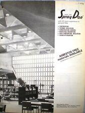 SPRAYDON Catalog Sprayed ASBESTOS Insulation Fireproofing Acoustical Coating '71