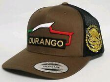 Durango Mexico Hat Mesh Trucker Brown Black Snap Back Adjustable New