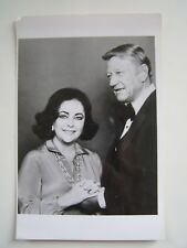Vintage Glossy Press Photo 1980's Elizabeth Taylor and John Wayne
