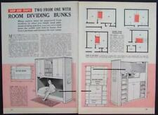 Room Divider Bunk Beds How-To build PLANS