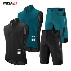 Men Short Sleeve Cycling Jersey Shorts Kit MTB Bike Vest Loose-fit Bicycle Pants