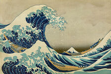 "perfect 36x24 oil painting handpainted on canvas""Japanese sea and waves"" NO4075"