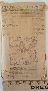Vtg 1910s PEERLESS PATTERN Infant's Coat Cap Dress Petticoat Kimono Sack & Shirt