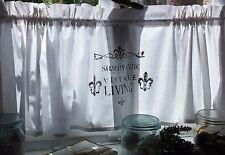 bistro scheibengardinen f rs wohnzimmer aus 100 baumwolle ebay. Black Bedroom Furniture Sets. Home Design Ideas