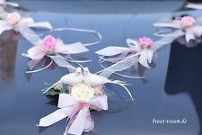 Edler Autoschmuck, creme/rosé, Hochzeit. Braut, zum Brautkleid, Brautstrauss