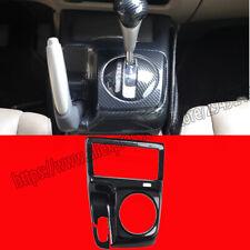 For Honda Civic 8th 2006 11 Abs Carbon Fiber Console Gear Shift Knob Cover Trim Fits 2006 Civic