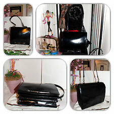 ALLURING GUCCI BLACK LEATHER HORSEBIT TOTE/PURSE/HANDBAG!