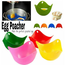 Silicone Egg Poacher Poaching Poach Cup Pods Mould MULTI -COLOUR Cooking Tool
