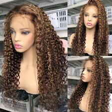 8A 180 Density Unprocessed Brazillian Ombre 4/27 Curly Lacefront Human Hair Wig