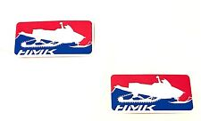 "HMK 5 x 2.5"" Trailer Truck Snowmobile Stickers Decals - Set of 2 - Red / Blue"