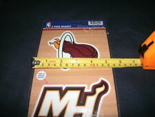 Pack of 2 Miami Heat Rubber Team Logo Magnets NBA Fridge Car
