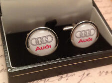 AUDI cuff links in box A 1 2 3 4 5 6 7 8 Q RS TT