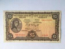 1958 LADY LAVERY 5 FIVE POUND NOTE £5 IRISH IRELAND BANKNOTE FREE STANDARD POST
