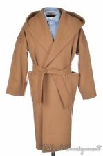 GUCCI Vicuna Beige CASHMERE WOOL Belted Hooded Shawl Cape Jacket Coat - MEDIUM