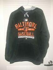 MLB Baltimore Orioles Sweatshirt w Hoodie Adult Size M New