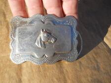 Vintage Stamped Horse Head Western Belt Buckle