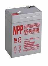 NPP  NP6-4Ah Rechargeable Sealed Lead Acid 6V 4Ah Battery