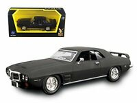 Road Signature 94238 1969 Pontiac Firebird Trans Am Matt Black 1/43 Diecast M...
