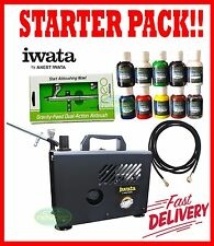 NEW IWATA IS875 SMART JET AIR BRUSH STARTER KIT COMPRESSOR PACK AIRBRUSH PAINT
