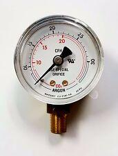 NEW Argon MH20517 CO2 Flow Gauge Regulator 60 PSI, 50mm, 1/8 NPT 10-30