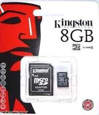 KINGSTON MICRO SD 8 GB MICROSD CLASSE 4 SDHC SCHEDA DI MEMORIA CARD SMARTPHONE
