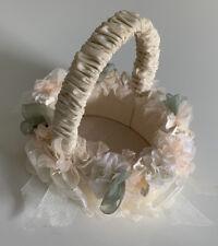 Marcela Ivory Flower Girl Basket Victorian Collection