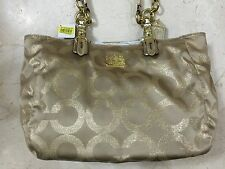 NWT Authentic Coach Op Art Signature Mia Lurex Tote Bag 15746 GOLD
