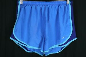 Nike Womens Size XL Dri Fit Blue Green Purple Lined Vented Tempo Running Shorts