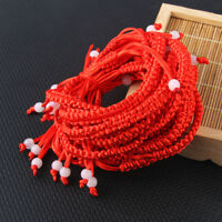10x Red Lucky Rope Cord Strip Adjustable Braided Bracelet Gift Jewelry Wholesale