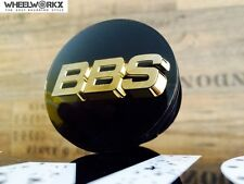 Original BBS Emblem Felgendeckel Nabenkappen schwarz/gold 3D 70mm 56.24.080