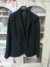 Ladies Marks&Spencers black classic straight leg trouser suit in size 14