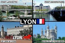 SOUVENIR FRIDGE MAGNET of LYON FRANCE