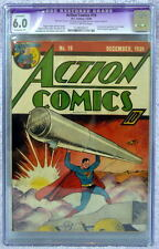 ACTION COMICS #19 CGC 6.0 Consecutive SUPERMAN Cover 1939 Ultra-Humanite App